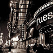 Ruby Tuesday's Times Square - New York At Night Art Print
