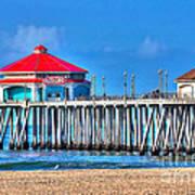 Ruby's Surf City Diner - Huntington Beach Pier Art Print