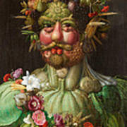 Rudolf II Of Habsburg As Vertumnus Art Print