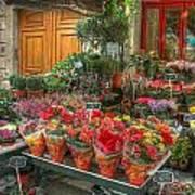 Rue Cler Flower Shop Art Print