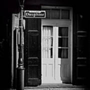 Rue Dauphine French Quarter New Orleans-monochrome Art Print