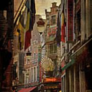 Rue Des Bouchers Art Print