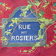 Rue Des Rosiers In Paris Art Print