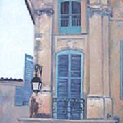 Rue Espariat Aix-en-provence Art Print