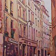 Rue Galande Art Print
