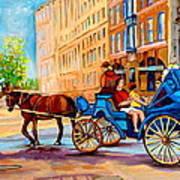 Rue Notre Dame Caleche Ride Art Print
