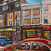 Rue Saint Laurent Club Soda Montreal Art Print