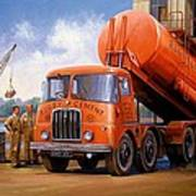 Rugby Cement Thornycroft. Art Print by Mike  Jeffries