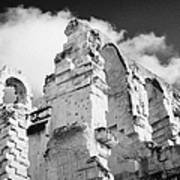 Ruined Area Of The Old Roman Colloseum At El Jem Tunisia Art Print