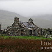 Ruined Cottage Snowdonia Art Print