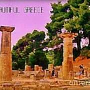 Ruins At Olympus Greece Art Print by John Malone