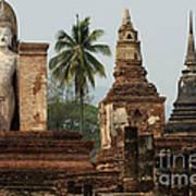 Ruins At Sukhotai Art Print