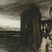 Ruins In A Landscape Art Print