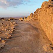 Ruins Of A Fort, Masada, Israel Art Print