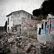 Ruins Of An Abandoned Farm House Art Print