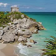Ruins Of Mayan Temple Art Print