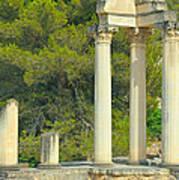 Ruins Of Roman Columns In Glanum  Art Print