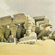 Ruins Of The Temple Of Kom Ombo Art Print by David Roberts