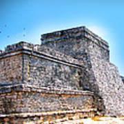 Ruins Of Tulum Mexico Art Print