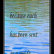 Rumi Quote 2 - Grateful - Guide Print by Barbara Griffin
