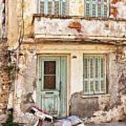 Run-down Building In Rethymnon Art Print