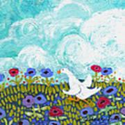 Run Duck Run Art Print