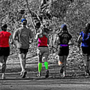 Run In The Park Art Print