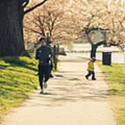 Running Blossoms Art Print