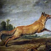 Running Fox Art Print