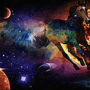 Running Horse Creation Art Print