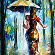 Running Towards Love - Palette Knife Oil Painting On Canvas By Leonid Afremov Art Print