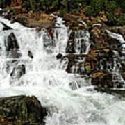 Running Water Glen Alpine Falls Art Print