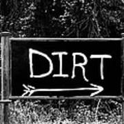 Rural Area Sign Art Print