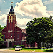 Rural Church Usa Art Print