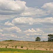 Rural Field Landscape In Maryland Art Print