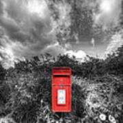 Rural Post Box Art Print