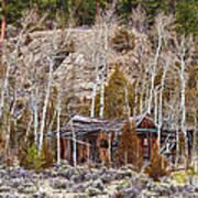 Rural Rustic Rundown Rocky Mountain Cabin Art Print