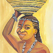 Rural Woman From Cameroon Art Print