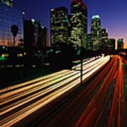 Rush Hour Harbor Freeway Los Angeles Ca Art Print