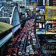 Rush Hour Manila Philippines Art Print