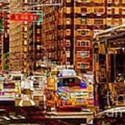 Rush Hour - Traffic In New York Art Print