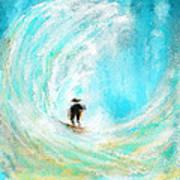 Rushing Beauty- Surfing Art Art Print