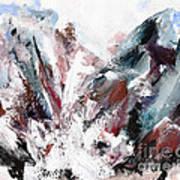Rushing Down The Cliff Art Print