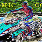 Rushing To Comic Con Art Print