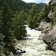 Rushing Water In Boulder Canyon Art Print