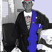 Russell Short Celebrating July 4th Tucson Medical Center Tucson Arizona 1990 Art Print