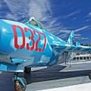Russian Aircraft Mig At Interpid Museum Art Print