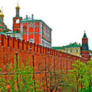 Russian Orthodox Church From Park Outside The Kremlin In Moscow-russia Art Print