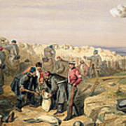 Russian Rifle Pit , Plate From The Seat Art Print