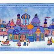 Russian Snowfall Fantasy Art Print